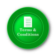 Terms and conditions icon. Internet button on white background.. - stock illustration