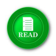 Read icon. Internet button on white background.. Stock Illustration