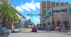 Collins Avenue shopping district Stock Footage
