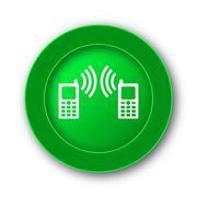 Communication icon. Internet button on white background.. Stock Illustration
