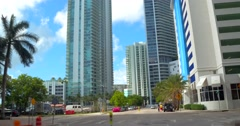 Driving along Brickell Bay Drive Stock Footage