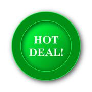 Hot deal icon. Internet button on white background.. - stock illustration