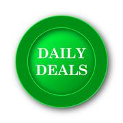 Daily deals icon. Internet button on white background.. - stock illustration