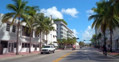 Driving on Collins Avenue Stock Footage