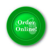 Order online icon. Internet button on white background.. Stock Illustration