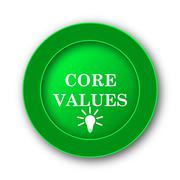 Core values icon. Internet button on white background.. - stock illustration