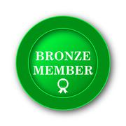 Bronze member icon. Internet button on white background.. Stock Illustration