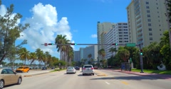 Miami Beach Collins Avenue 52nd Street Stock Footage