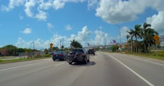 Macarthur Causeway to Port Miami Stock Footage