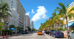 Miami Beach Ocean Drive south of 5th Stock Footage