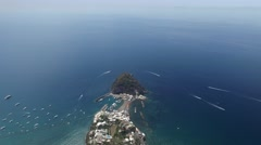 Aerial view of Sant'Angelo in Ischia island in Italy Stock Footage
