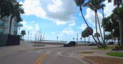 Miami Brickell Bay Drive Stock Footage