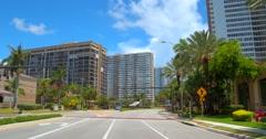 Ocean Drive Hallandale Beach FL Stock Footage