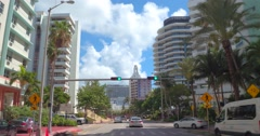 Real estate developments Collins Avenue Stock Footage