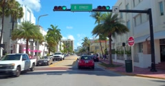 Stock video Collins Avenue Miami Beach Stock Footage