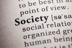 Dictionary word society Stock Photos