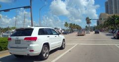 White Jeep Cherokee in motion Stock Footage