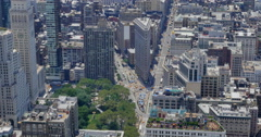 High Angle View of Flatiron Building in Manhattan  	 Stock Footage