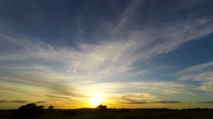 Time Lapse Sunset Over Country Fields  Stock Footage