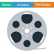 Film reel icon - stock illustration