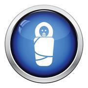 Wrapped infant icon Stock Illustration