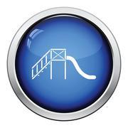 Children's slide icon Stock Illustration