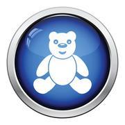 Teddy bear icon - stock illustration