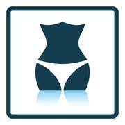 Icon of Slim waist - stock illustration
