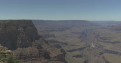 Grand Canyon Landscape with Cliff and Stream Stock Footage