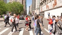 Population growth concept background. crowd of people walking Stock Footage