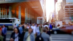 Business people commuting home after work. city lifestyle scene Stock Footage