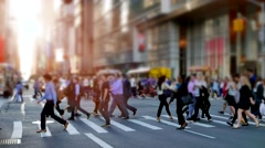 Crowd of business people walking in the city. unrecognizable persons commuting Stock Footage
