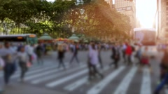 People walking in the city. unrecognizable persons in new york streets Stock Footage