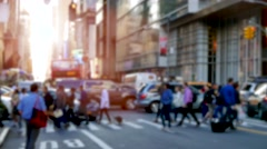 Crowd of people walking in the city. unrecognizable persons in new york streets Stock Footage