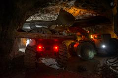 Loading truck with gold ore Stock Photos
