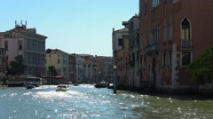 Famous Grand Canal in Venice - Canale Grande Stock Footage