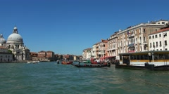 Amazing Grand Canal in the city center of Venice Stock Footage