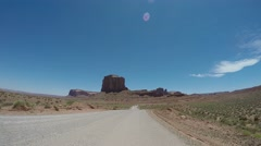 Monument Valley Vehicle Footage. Stock Footage