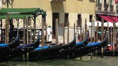 Gondola ride in Venice - the ultimate tourist attraction Stock Footage