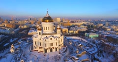 The amazing Cathedral of Christ the Saviour. Stock Footage