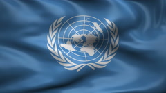 Flag of The United Nations Stock Footage