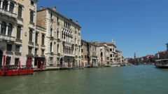 Impressive Grand Canal in Venice city center Stock Footage