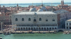 Famous Doge´s Palace in Venice at St. Mark´s Place - stock footage