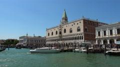 Piazza Ducale at Riva dei Schiavoni in Venice Stock Footage