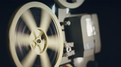 The end of the film, old movie projector Stock Footage