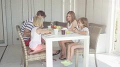 Family breakfast Stock Footage
