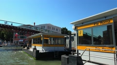 Waterbus stop Piazzale Roma at Venice Stock Footage