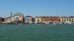 Famous Riva degli Schiavoni Walk in Venice - VENICE, ITALY - JUNE 30, 2016 Stock Footage