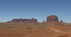 Monument Valley. Valley of Rocks Stock Footage