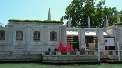 The Peggy Guggenheim Collection in Venice Italy Stock Footage